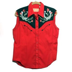 Scully - Vintage Western Wear Embroidered Top